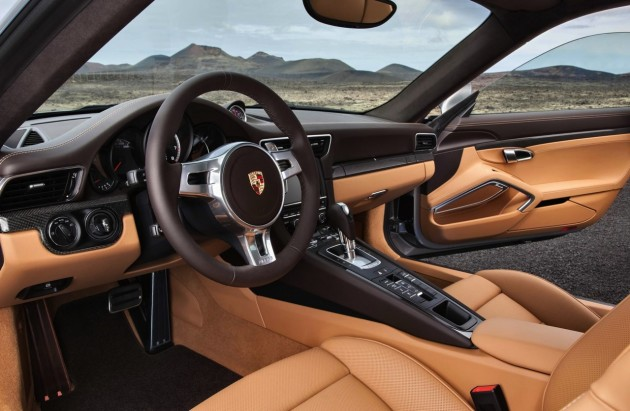 2014 991 Porsche 911 Turbo S interior