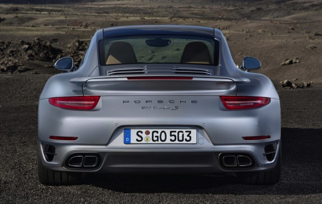 2014 991 Porsche 911 Turbo S rear