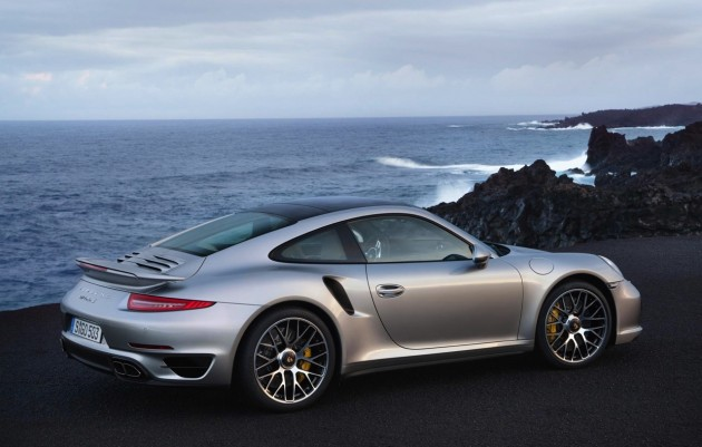 2014 991 Porsche 911 Turbo S silver