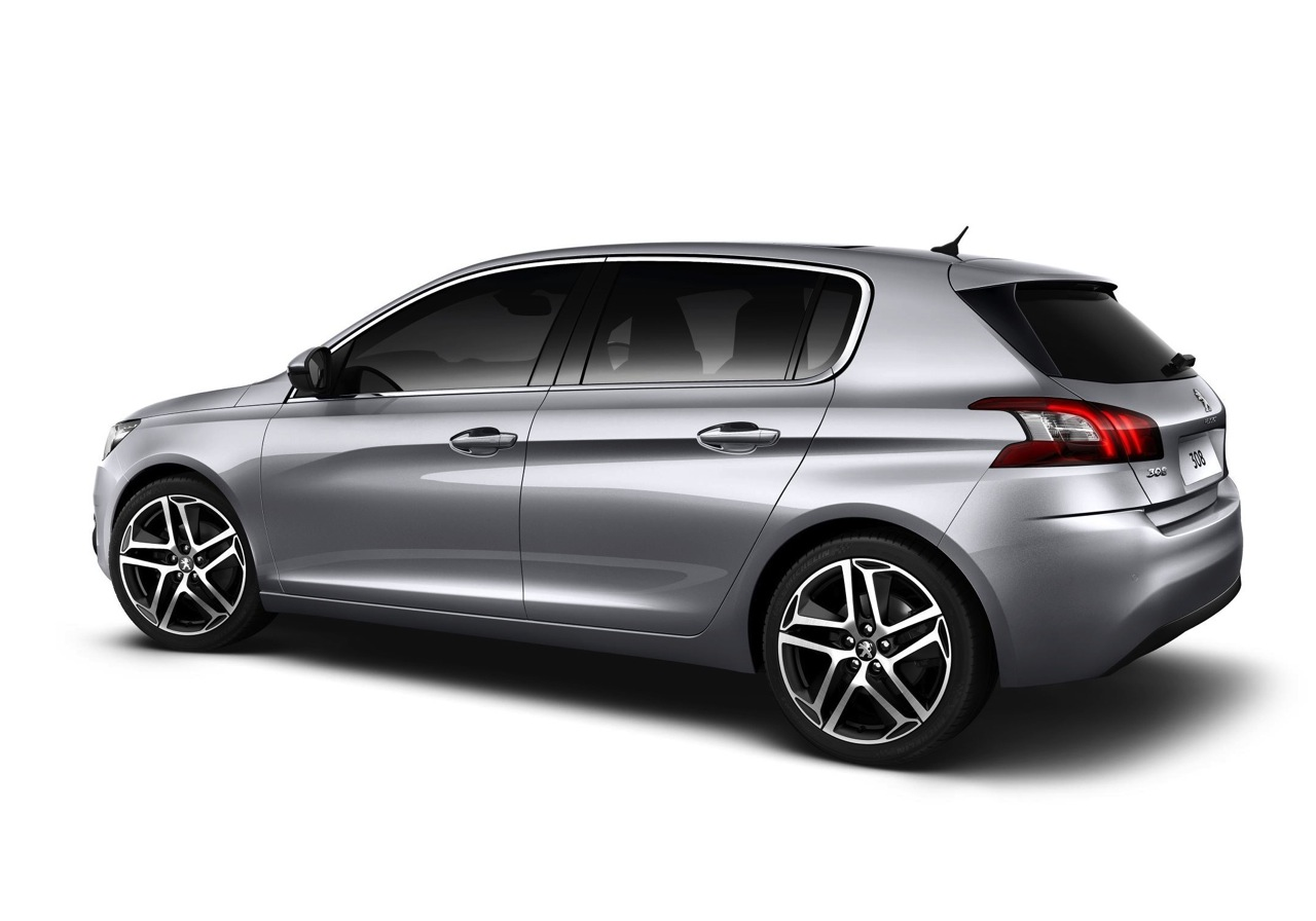 2014 peugeot 308 silver rear performancedrive. Black Bedroom Furniture Sets. Home Design Ideas