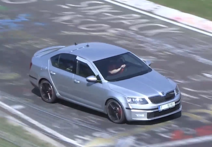 video 2014 skoda octavia rs prototype spotted on the nurburgring performancedrive. Black Bedroom Furniture Sets. Home Design Ideas