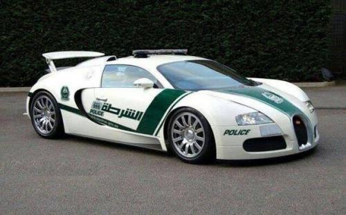 Bugatti Veyron police car-Dubai
