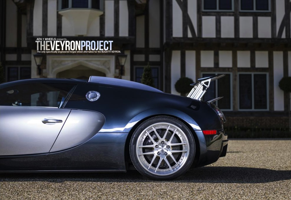 bugatti veyron with adv1 rear wheels. Black Bedroom Furniture Sets. Home Design Ideas