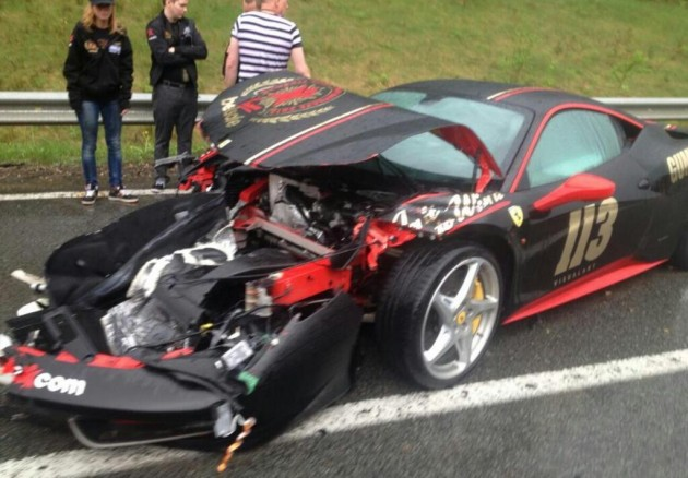 Ferrari 458 Gumball 3000 crash-2