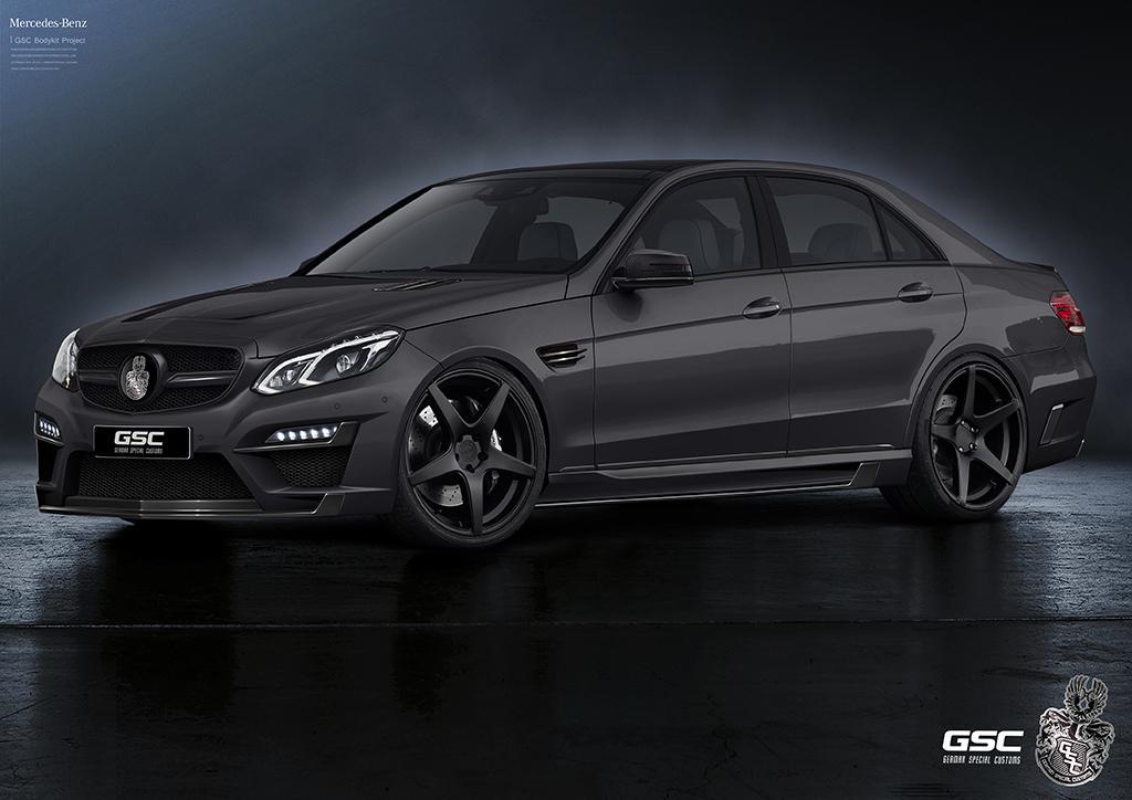 New mercedes benz e class gets german special customs kit for Mercedes benz e class black