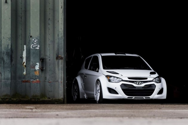 Hyundai i20 WRC testing set up