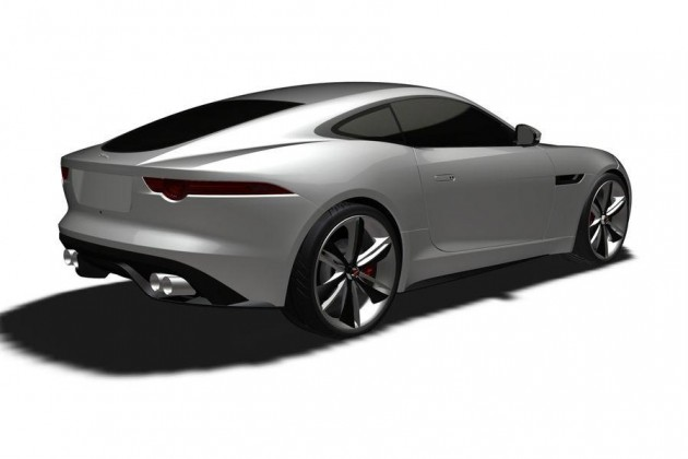 Jaguar F-Type Coupe patent rear
