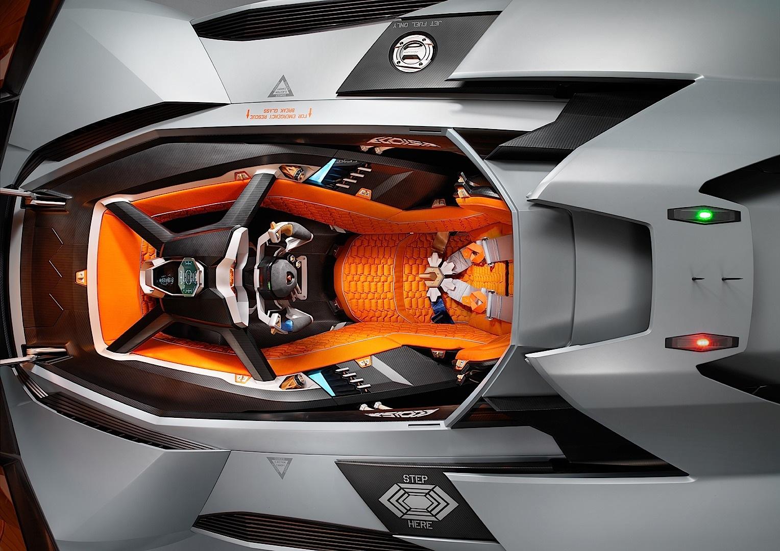 Lamborghini Egoista concept-cabin |