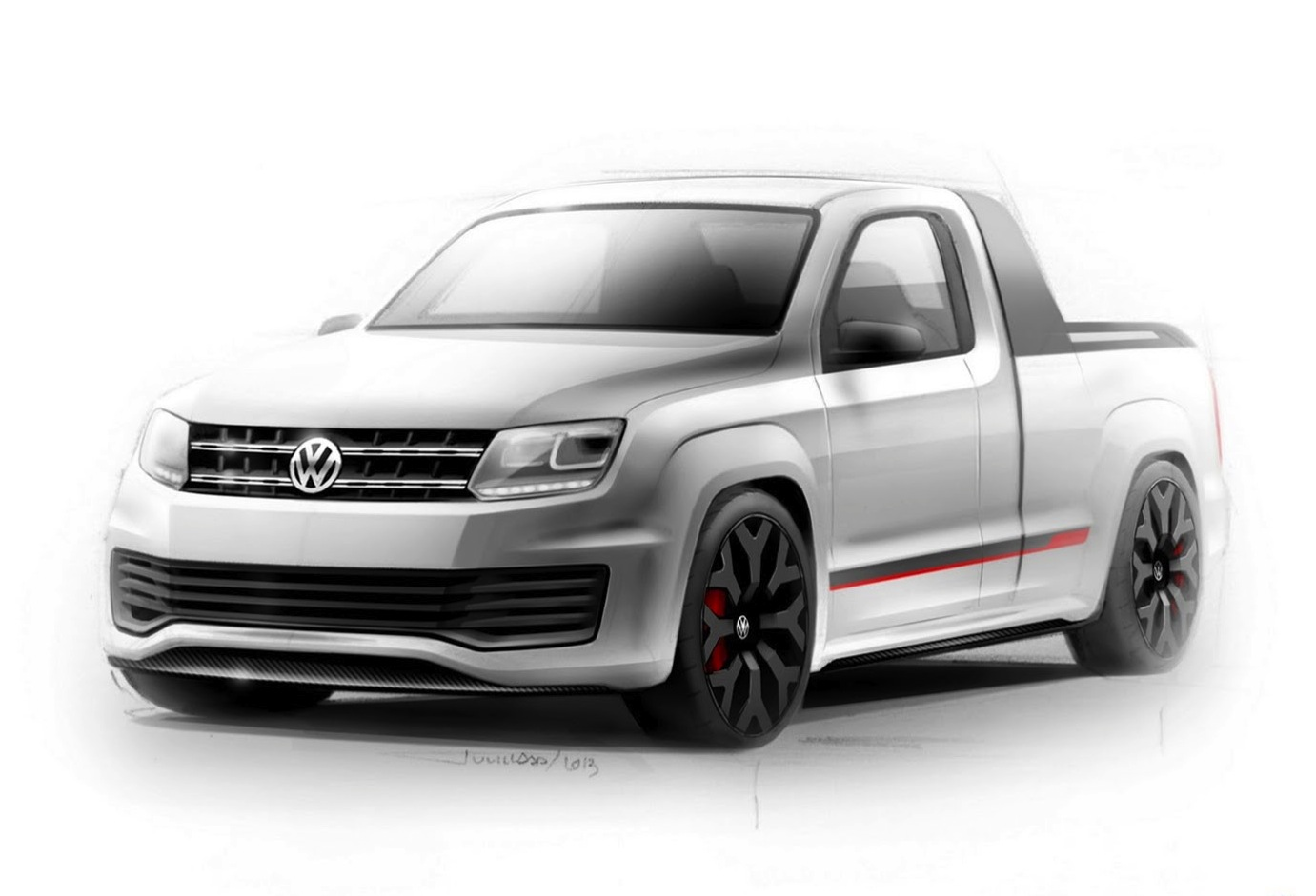 200kw volkswagen amarok r style concept headed to worthersee performancedrive. Black Bedroom Furniture Sets. Home Design Ideas