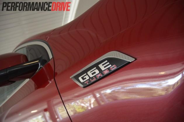2013 Ford G6E Turbo FG MKII guard badge