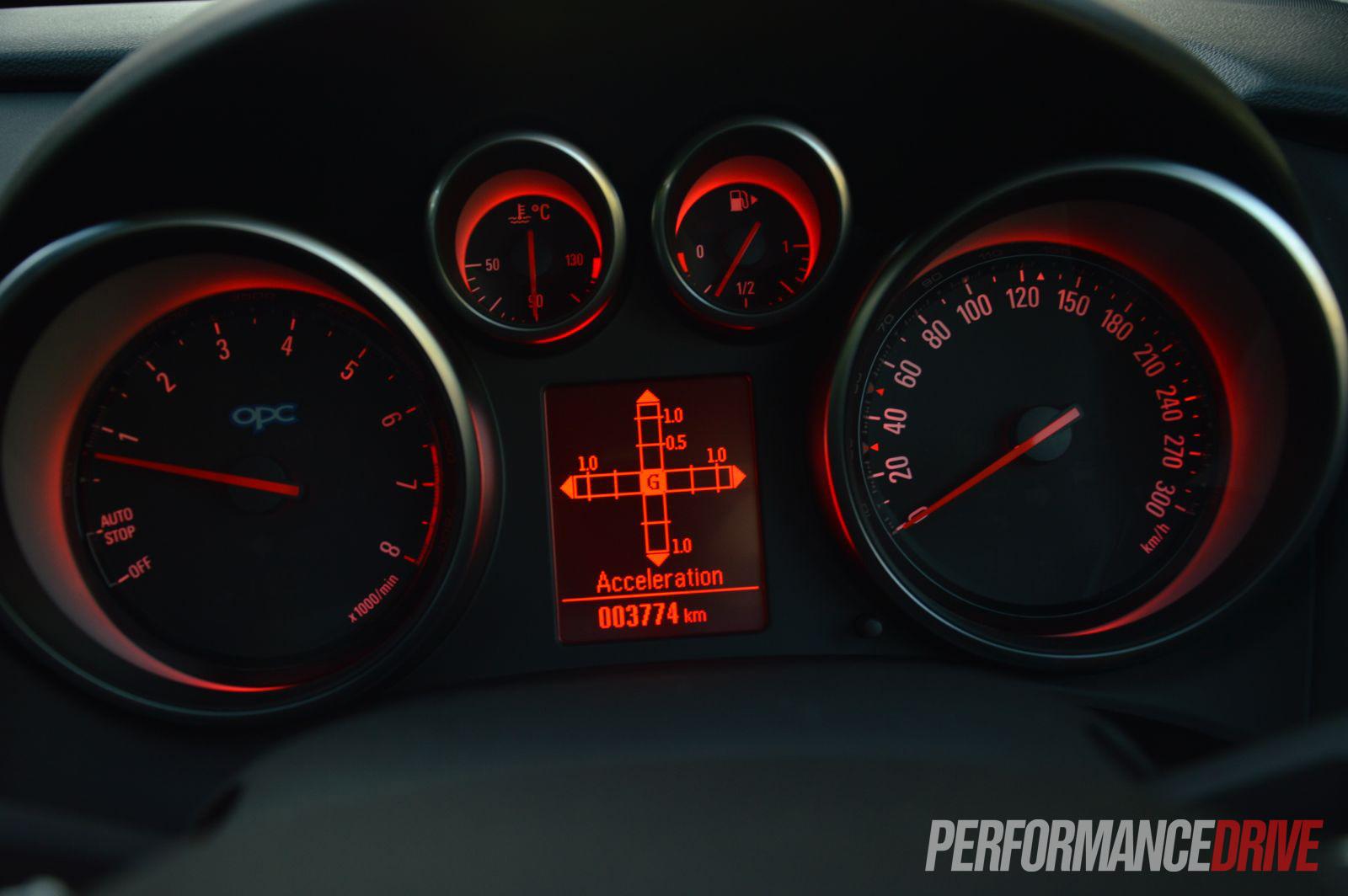 2013 Opel Astra Opc G Meter