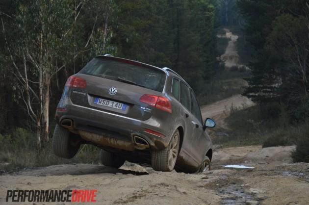 2013 Volkswagen Touareg V6 TDI suspension travel
