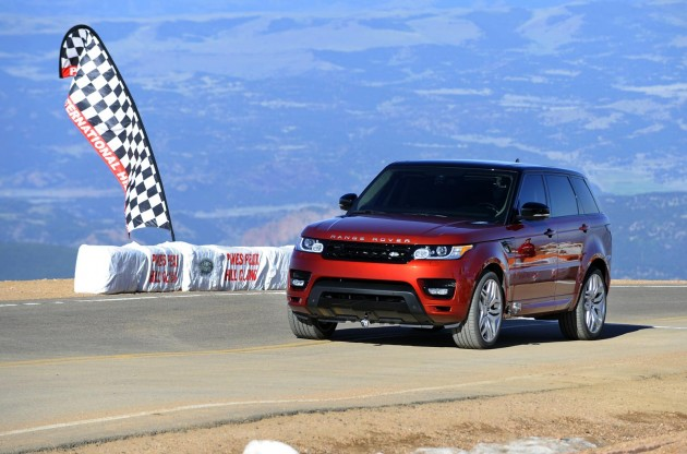 2014 Range Rover Sport at Pikes Peak record