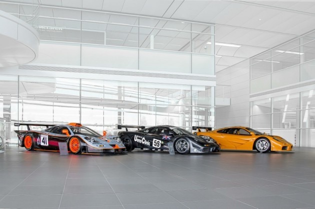 McLaren F1 GTR lineup 2013 Goodwood