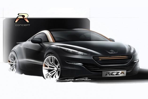 Peugeot RCZ R design sketch front