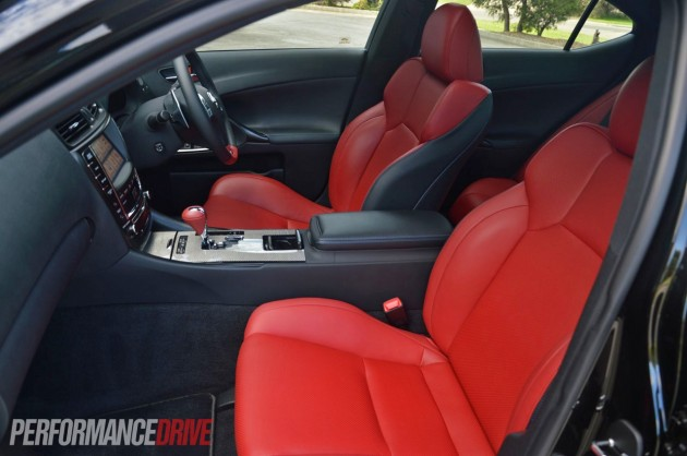 2013 Lexus IS F front seats