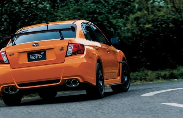 2013 Subaru WRX STI tS Type RA rear