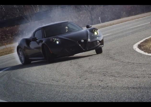 Alfa Romeo 4C drifting