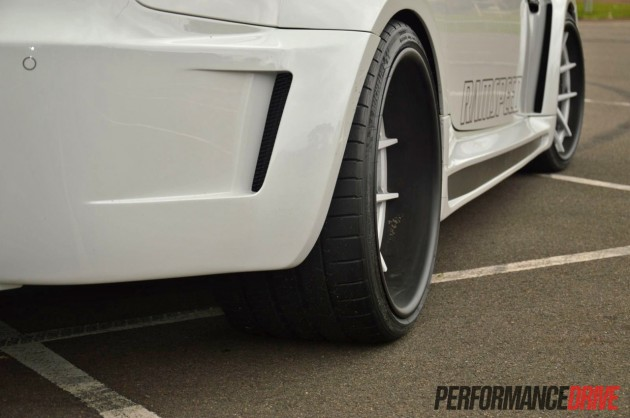 BMW M3 Vorsteiner widebody rear wheels 12.5in