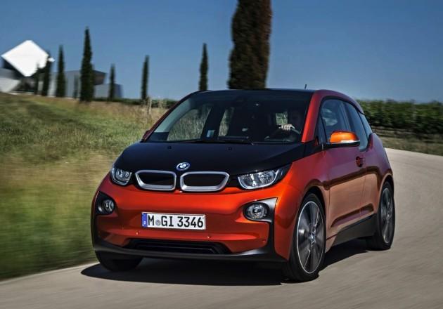 BMW i3 driving