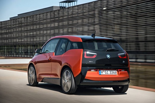 BMW i3 rear-on road