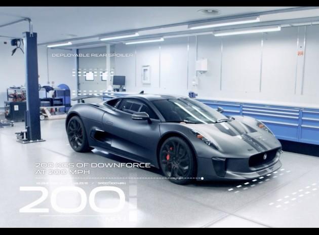 Jaguar C-X75 Concept details