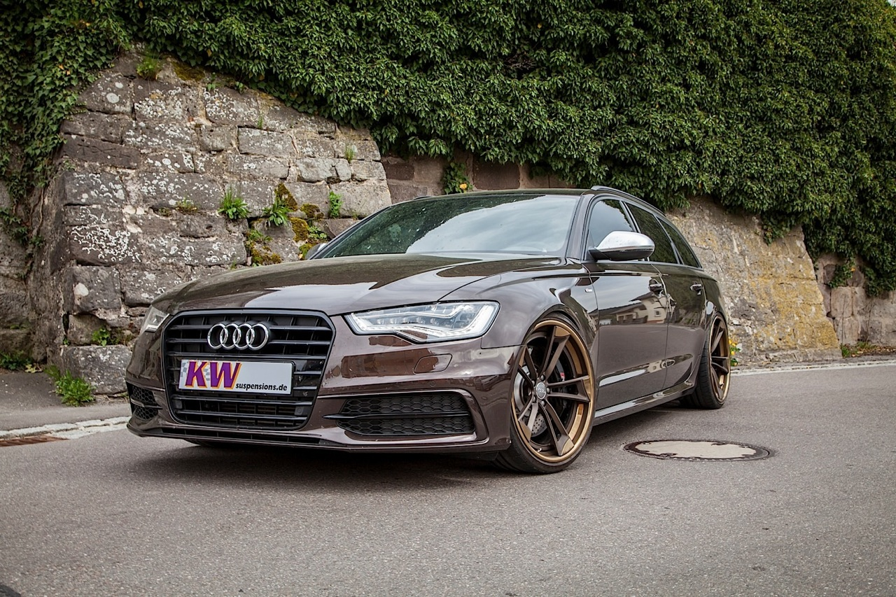 kw audi a6 avant with phone app adjustable suspension performancedrive. Black Bedroom Furniture Sets. Home Design Ideas