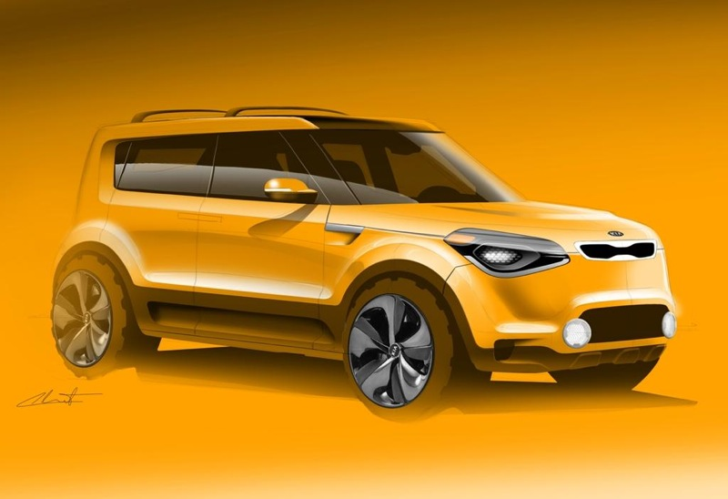 kia soul suv on the way mysterious sketch surfaces performancedrive. Black Bedroom Furniture Sets. Home Design Ideas