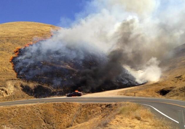 Mercedes-Benz C 63 AMG fire at GG2H USA