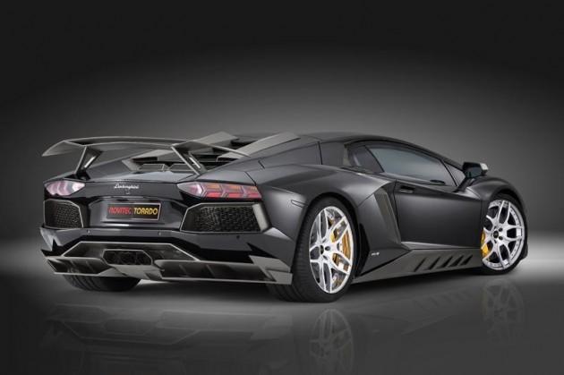 Novitec Lamborghini Aventador black-rear