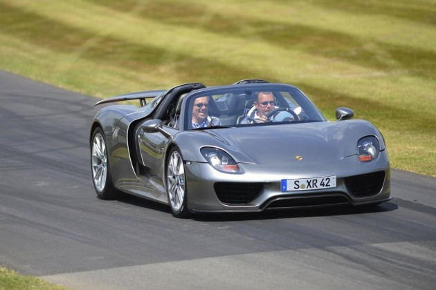 Porsche 918 Spyder at 2013 Goodwood Festival