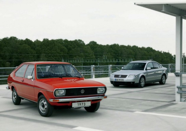 Volkswagen Passat 40th anniversary - 1st gen and 5th gen