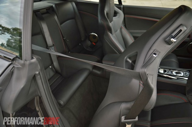2013 Jaguar XKR-S rear seats