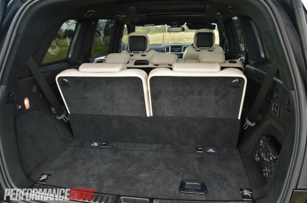 2013 Mercedes-Benz GL 63 AMG minimum cargo space 300L