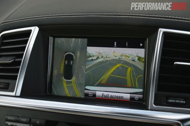 2013 mercedes benz gl 63 amg parking camera with birds eye for Mercedes benz parking