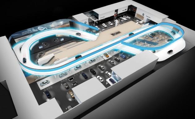 BMW Frankfurt Motor Show track