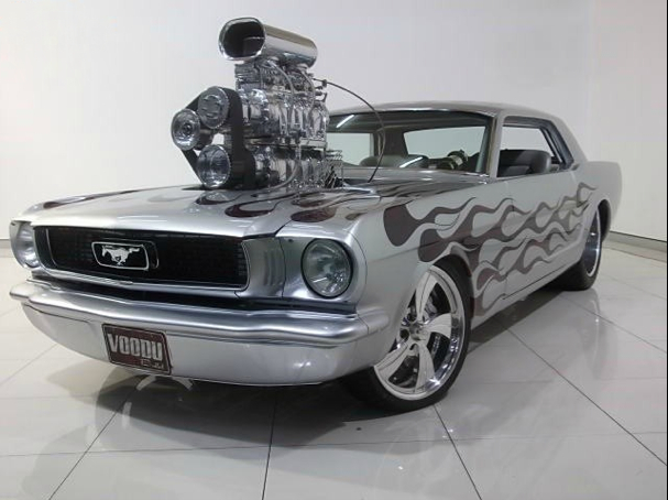 Gary Myers 1966 Mustang twin supercharged