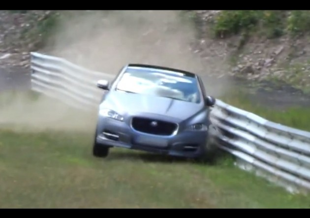 Jaguar XJ Supersport Nurburgring Taxi crash
