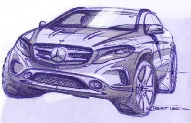 Mercedes-Benz GLA-Class preview sketch-front