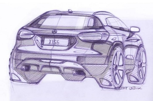 Mercedes-Benz GLA-Class preview sketch-rear