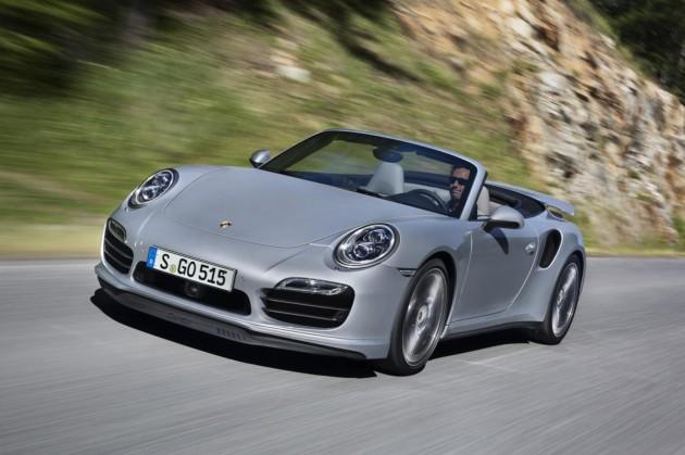 2014 Porsche 911 Turbo Cabriolet grey