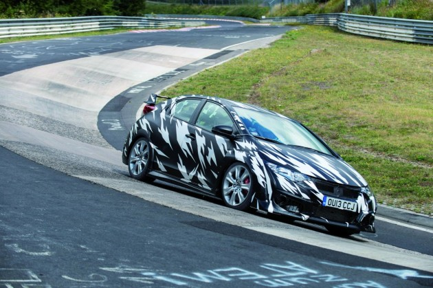 2015 Honda Civic Type R prototype Nurburgring-2