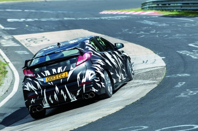 2015 Honda Civic Type R prototype Nurburgring-5