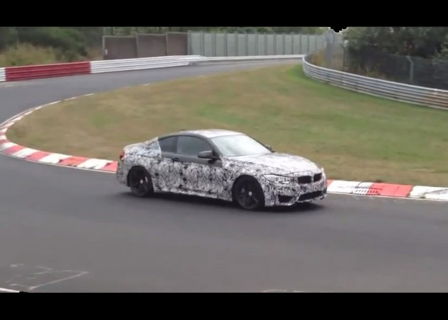 BMW M4 prototype Nurburgring