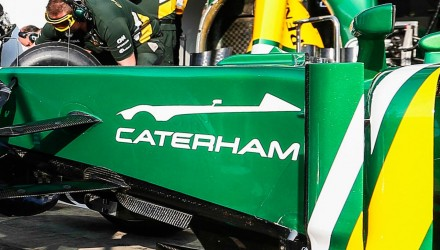 Caterham sports car teaser on F1 car
