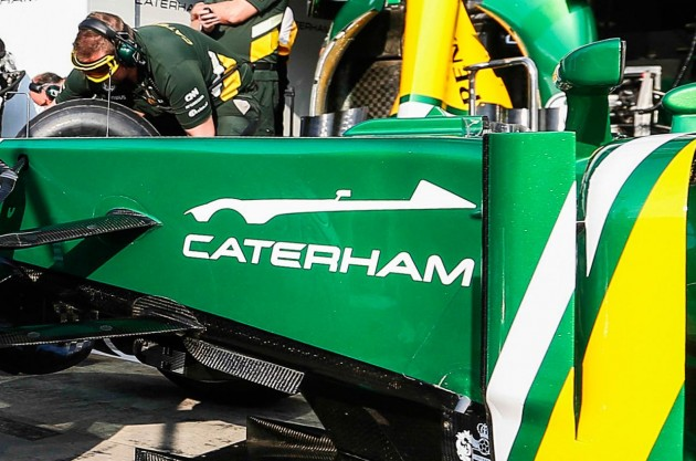 Caterham sports car teaser on F1 car
