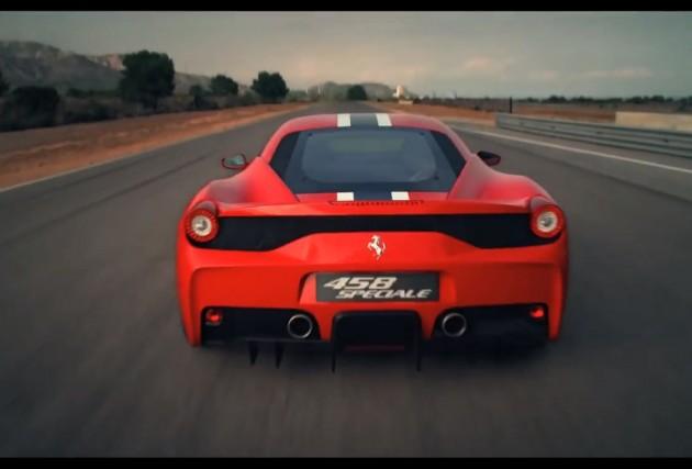 Ferrari 458 Speciale promo
