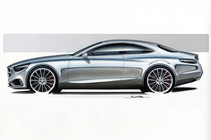 Mercedes benz s class coupe sketch side for 2013 mercedes benz s class coupe
