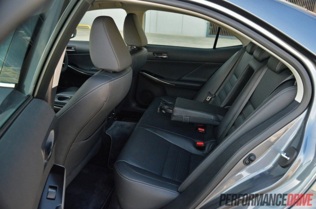 2013 Lexus IS 250 Luxury rear seats