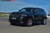 2014 Jeep Grand Cherokee SRT cornering